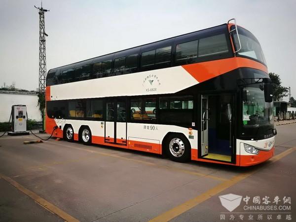 新年 新车 新气象!安凯纯电动双层巴士开启广州