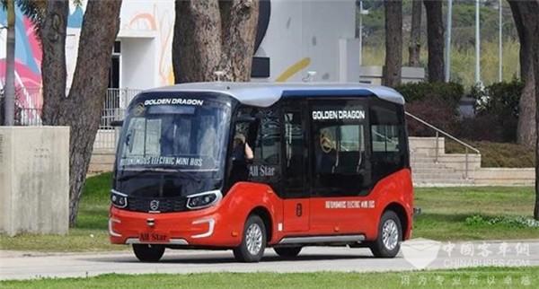 金旅星辰无人驾驶客车进行以色列道路测试