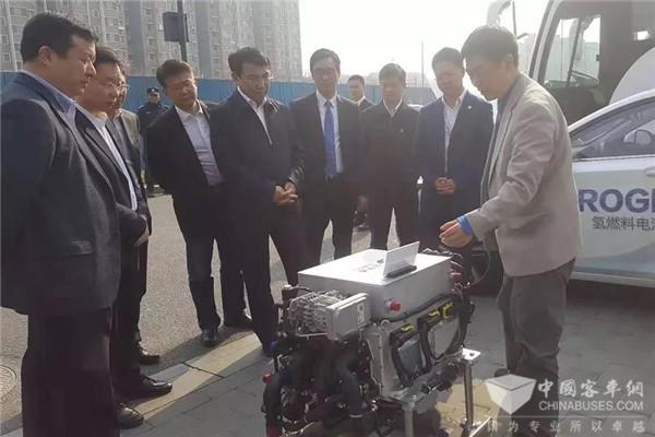 北京市海淀区委书记于军视察亿华通 鼓励氢能产业发展