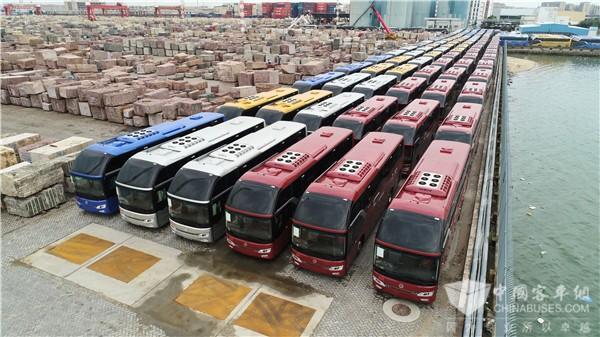 足迹踏遍120个国家 金旅客车构造全球拼图
