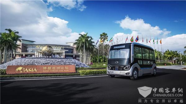 自动驾驶巴士博鳌论坛开放体验 谈宇通智能驾驶技术的领先性