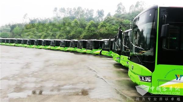 """为千年古城注入新活力 亚星天然气公交车登陆重庆""""龙城""""铜梁"""