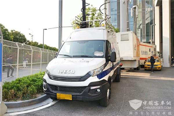 上海车展|进口依维柯变身移动通讯保障后勤兵