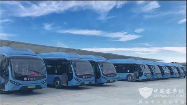 """""""氢""""""""快""""再联合 108辆配套微宏动力氢燃料城市客车驶进南阳"""