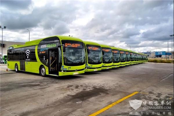 比亚迪打造西班牙当地最大纯电动大巴车队