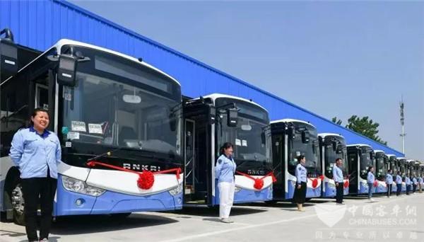 安徽:53台安凯新能源公交车上线!合肥经开区进入绿色公交时代