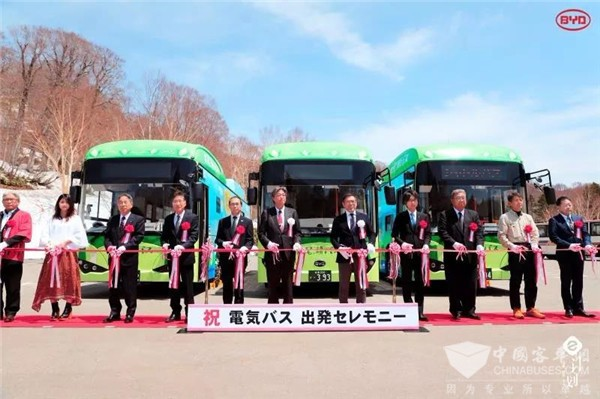 """来自比亚迪客车的""""量身定制"""" 日本纯电动巴士第一品牌来自中国"""