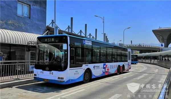 金旅客车为公交数字化提速 福州首批5G智能公交车上路运营