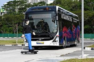 沃尔沃将在新加坡测试大型纯电动无人驾驶公交