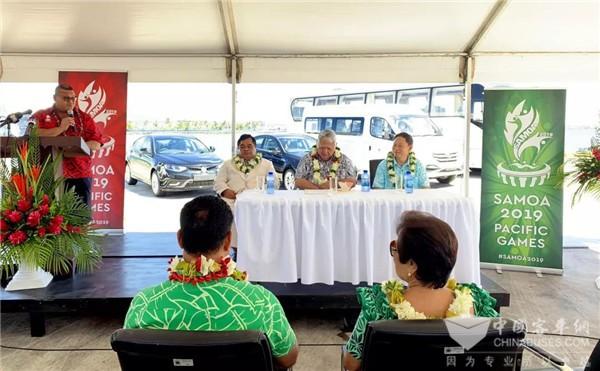 金龙26辆援助客车交付南太岛国萨摩亚