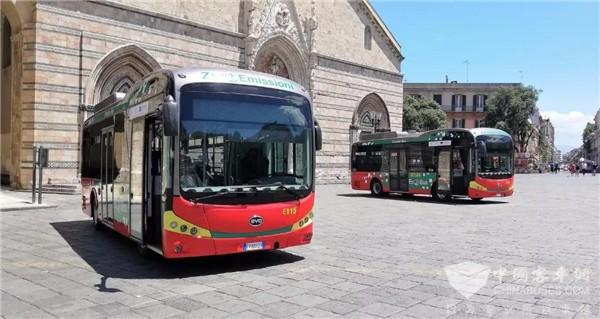16台再交付!意大利一半以上纯电动巴士巴士来自比亚迪