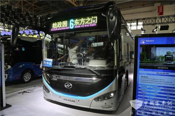 """未来公交车什么样?海格""""蔚蓝""""给你答案"""