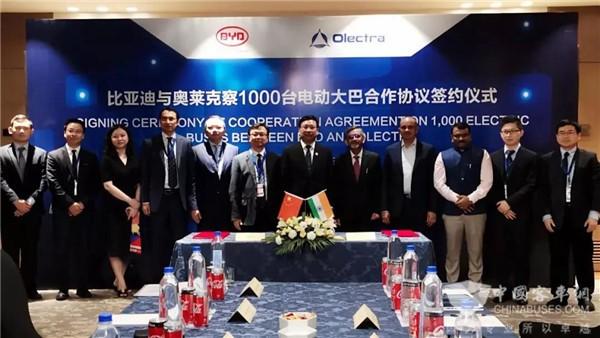1000台!比亚迪再刷新印度市场最大电动巴士订单纪录