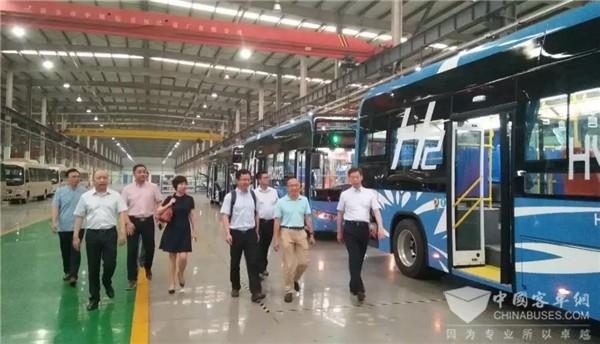 陆地方舟氢能源客车成功通过验收并交付用户