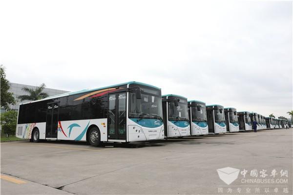 78辆金龙豪华公交在新喀里多尼亚首都上线