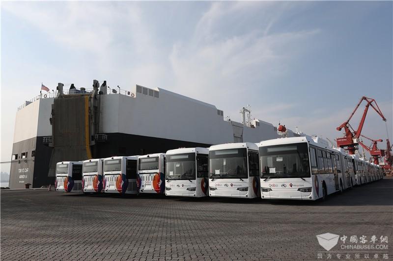 170辆金龙天然气公交交付墨西哥