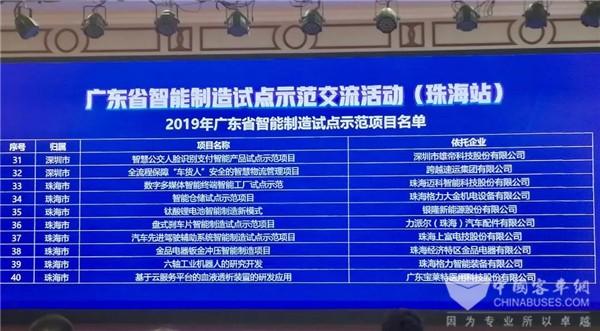 """智能制造""""急先锋 """" 银隆入选2019年广东省智能制造示范试点项目"""