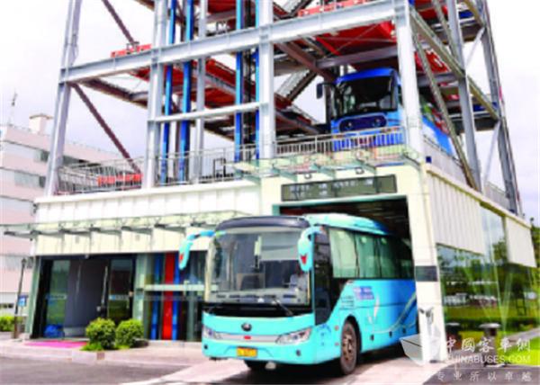 """国内首个""""5G+新能源"""" 公交立体车库在惠亮相"""