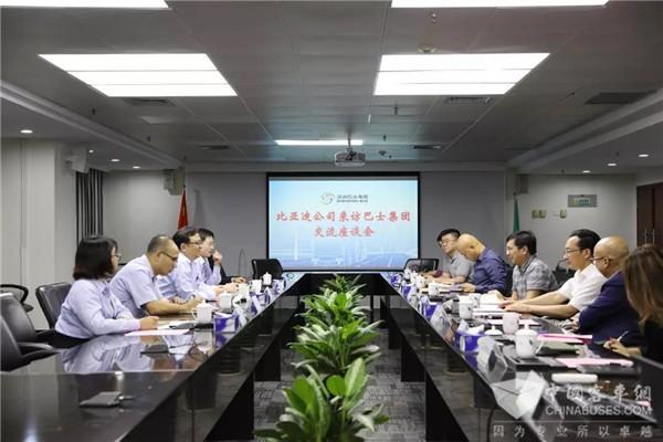 比亚迪公司董事长王传福访问深圳巴士,他们探讨了这些事儿……