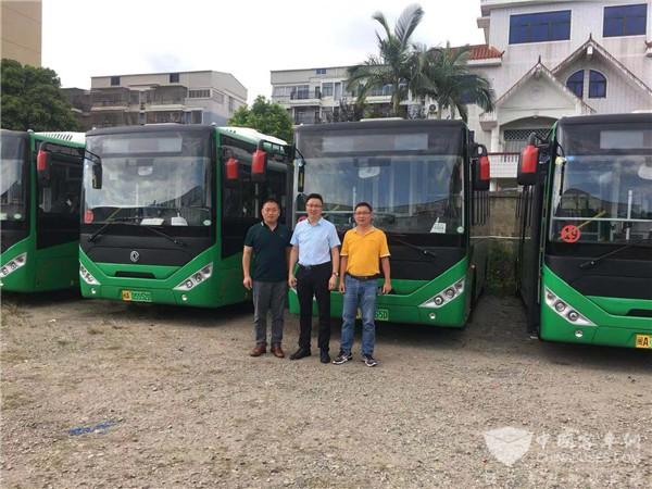 龙山公交换新颜 20辆东风超龙纯电动公交交付福建福清