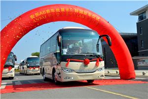 安凯A6客车批量出口韩国