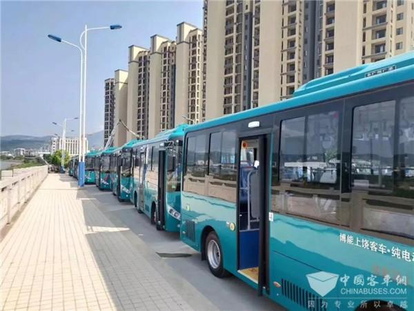 博能上饶客车新能源公交携手福清,大批量进入福建市场