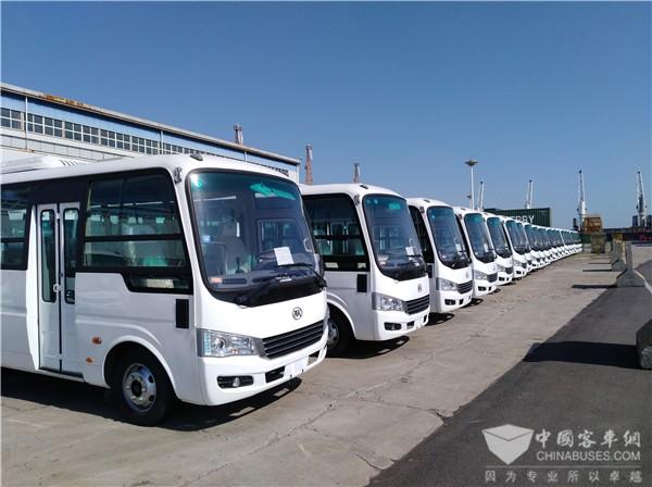 113辆安凯客车出口叙利亚