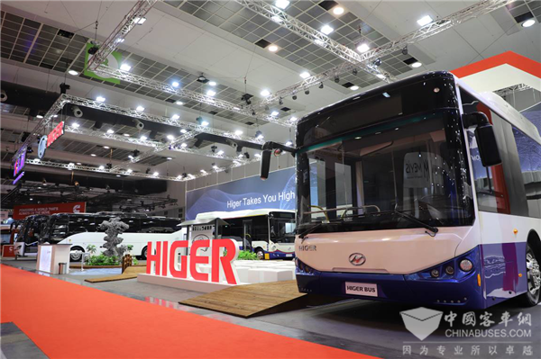 为中国智造代言 苏州金龙海格客车亮相比利时世界客车博览会