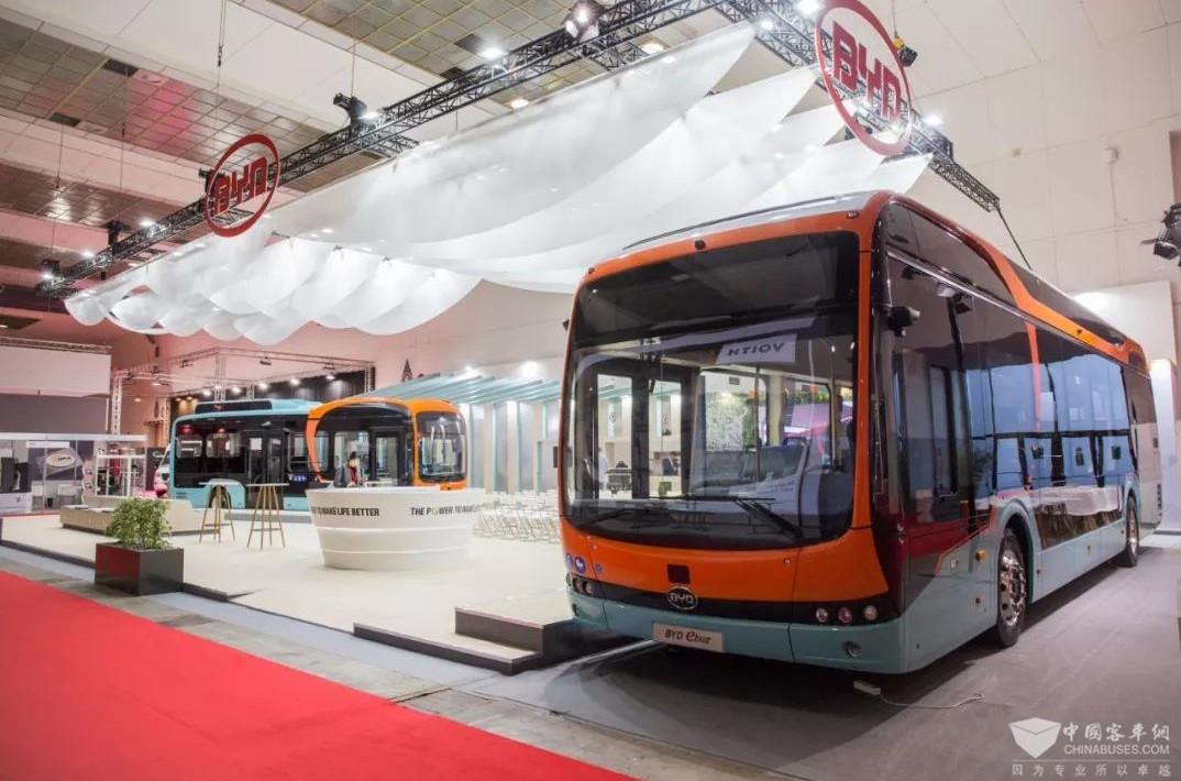2019比利时世界客车博览会 比亚迪展台