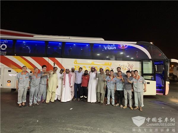 中通客车沙特服务团队:24小时待命保障车辆安全无忧运行