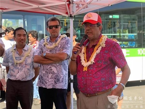 总统见证!南太平洋群岛区迎来首批比亚迪纯电动大巴