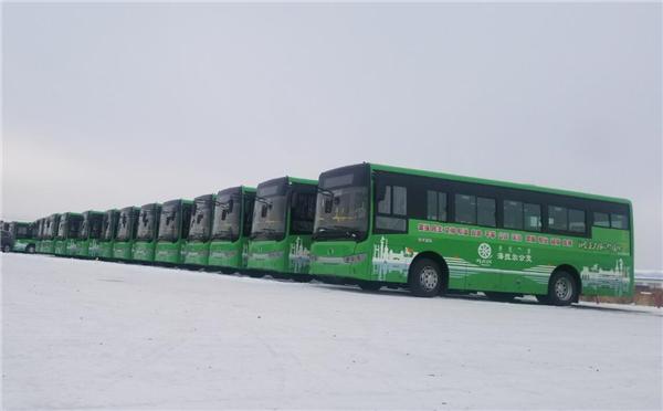 在风雪中畅行 90台金龙纯电动公交驶进呼伦贝尔