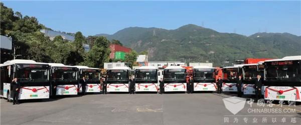 有颜值且有实力!开沃H6纯电动公交批量投放深圳盐田
