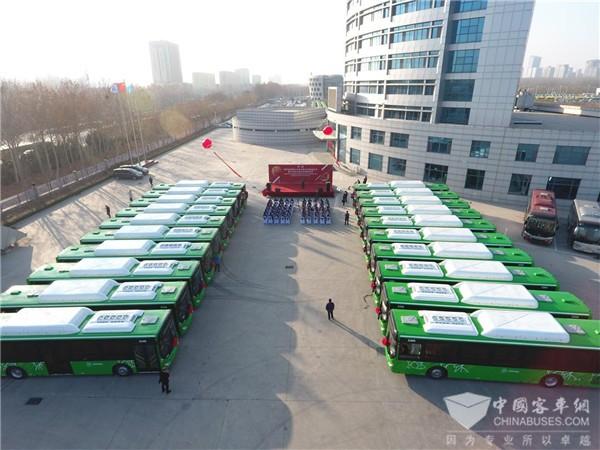 中通客车出口哈萨克斯坦200台公交车正式交付