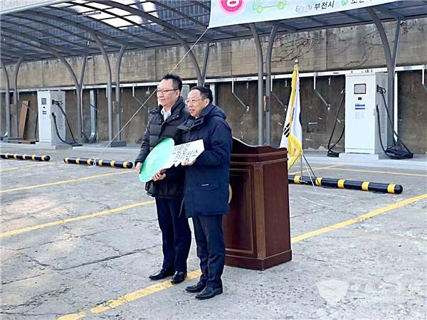 当地市场保有量第一! 苏州金龙纯电动公交再付韩国