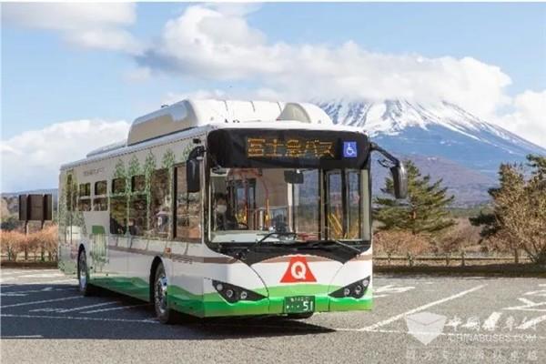 """比亚迪大巴再入日本 """"圣岳""""富士山迎来首批纯电动客车"""