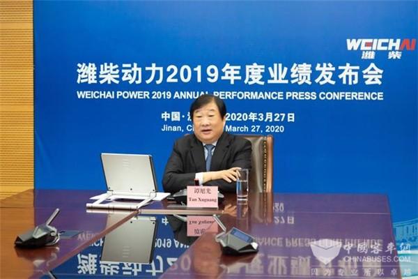 谭旭光:潍柴动力2019年营收1743亿 未来要保持每年10%的稳定增长