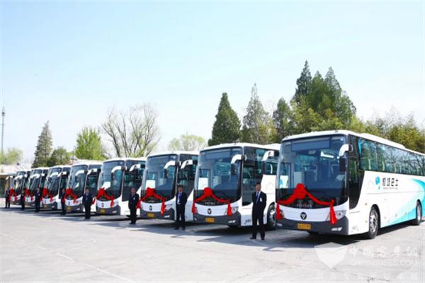 北汽福田、中石化、机场巴士、亿华通共推北京机场氢能交通