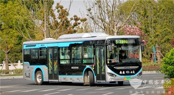 绿色环保高颜值! 苏州金龙蔚蓝纯电公交畅行南通