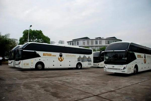 155辆上饶客车出口沙特 厦门港完成交接