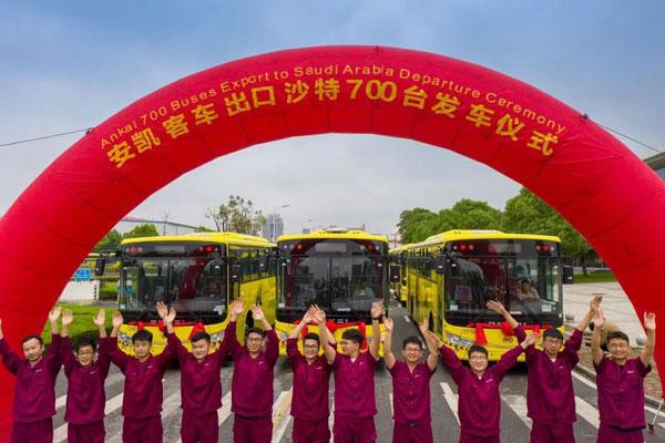 """700辆!安凯客车再出海沙特 彰显""""中国制造""""力量!"""