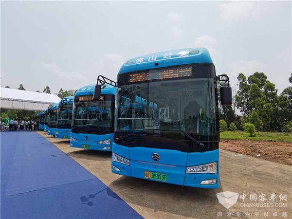 """186台燃料电池客车 佛山南海区仙湖氢谷项目再添""""金旅力量"""""""