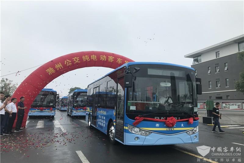 30辆安凯G9纯电动客车驶入滁州