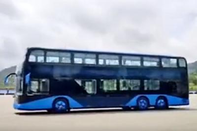 比亚迪全新双层大巴360°酷炫新车视频来袭