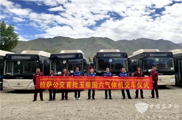 西藏雪域高原迎来首批国六欧辉客车,全部玉柴机器!