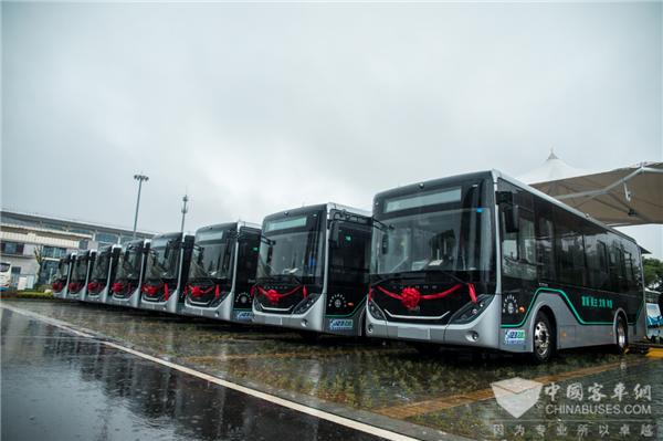 智慧公交助力美好出行 宇通智能网联公交车交付湖北鄂州