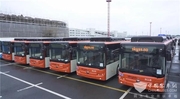 创欧洲纯电单笔最大批量订单记录!102辆宇通客车发往挪威
