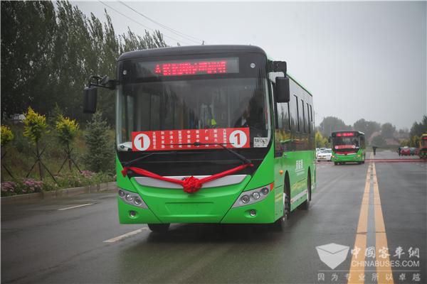 服务美好出行! 60辆宇通新能源公交车助力内蒙敖汉旗公交改革(图2)