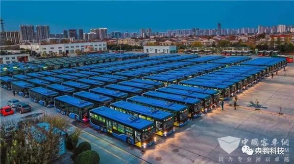 238台搭载森鹏数字驾驶舱的新能源公交交付石家庄公交总公司