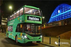 助力英国公交出行防疫战!比亚迪打造曼城最大纯电动双层大巴车队